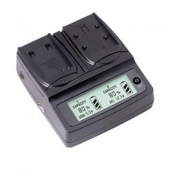 Akku-Ladegerät mit 2 Ladeschächten für Sony CFW50