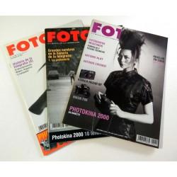 Lote 3 revistas FOTO año 2000 (nº 214, 215 y 216)
