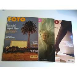 Lote 3 revistas FOTO año 2001 (nº 220, 221 y 222 )