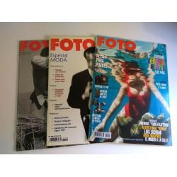 Lote 3 revistas FOTO, 2 año 2001 (nº 228, Julio-Agosto)  y  Abril 1998