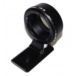 Adaptador objetivos Minolta-MD para Sony montura-E (con zapata tipo Arca)