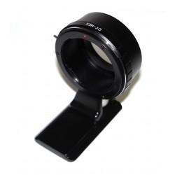 Adaptador objetivos Yashica/Contax para Sony montura-E (MN)(con zapata tipo Arca)
