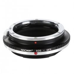 Adaptador K&F concept de objetivos Canon EOS para Fuji GFX50S