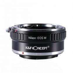 Adaptador K&F concept de objetivos Nikon para Canon EOS-M