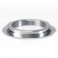 Adapter for M42 Thread lens to Canon EOS (chrome plated)