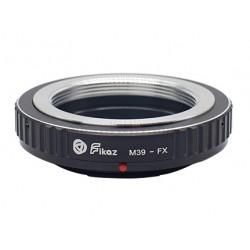 Adaptador Fikaz de objetivos rosca Leica-M39 para Fuji-X