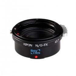Reductor de Focal Kipon Baveyes de Nikon-G para Fuji-X