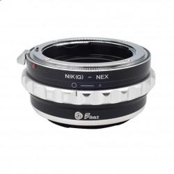 Fikaz Objektiv Adapterring für Nikon-G Mount Objektive auf Sony-E