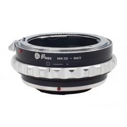 Fikaz Objektiv Adapterring für Nikon-G Mount Objektive auf  Olympus micro-4/3
