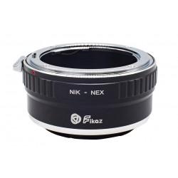 Fikaz Objektiv Adapterring für Nikon Mount Objektive auf Sony-E