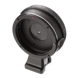 Objektiv-Adapter mit Blende für Canon-EOS-Objektiv an Fuji-X-Mount-Kamera mit stative fuss