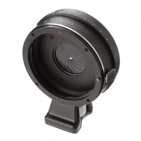Adaptador Canon EOS con diafragma para Fuji-X con soporte