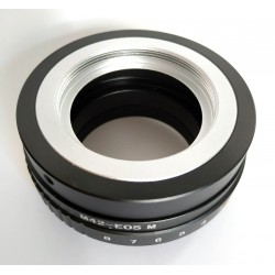 Tilt adapter for M42 lens to Canon EOS-M