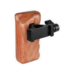 CAMVATE Wooden Handgrip Left Side With QR ARCA Compatible Clamp