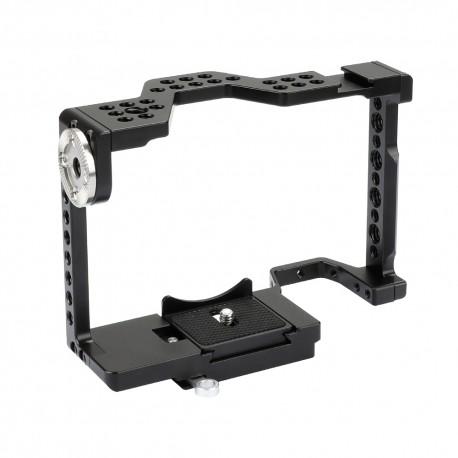 Caja tipo jaula  con  accesorio Rosette estilo Arri para Sony A7 II, A7R II, A7S II, A7 III, a7R III, Serie A9