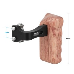 Empuñadura de madera   (mano izquierda)