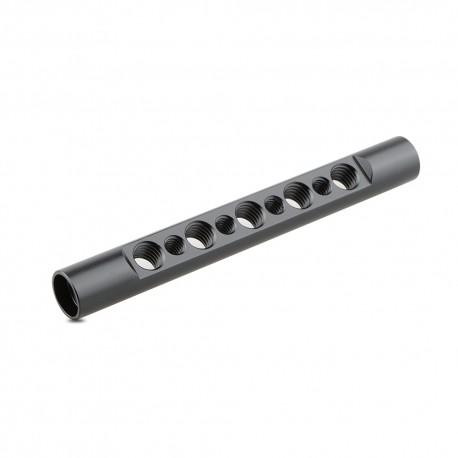 Barra 15mm con perforaciones 1/4 y 3/8 (125mm)