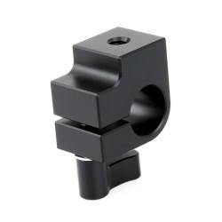 """Abrazadera para barra de 15mm anclaje tornillo 1/4"""""""
