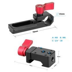 CAMVATE Single 15mm Rod Clamp & NATO Clamp