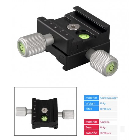 QR50B BEXIN Quick release clamp Detachable two way Flexible For Arca Swiss standard