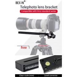 Bexin M400-38 Kamera Objektivstütze Telestütze mit QR-System Arca Swiss Type