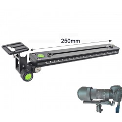 Bexin M250-38 Kamera Objektivstütze Telestütze mit QR-System Arca Swiss Type