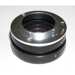 Adaptador objetivos bayoneta PETRI para cámaras micro  4/3