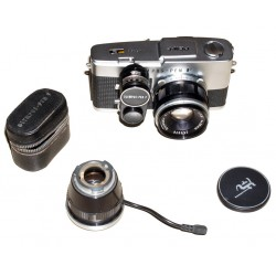 "Olympus PEN-F ""medical"" with 38mm f/1.8 lens and accesories"