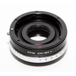 Adaptador Canon EOS con diafragma para NEX