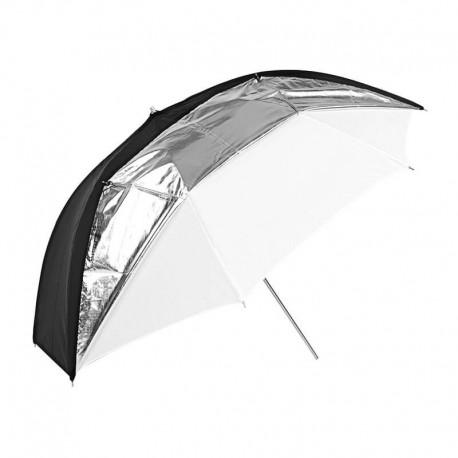 Godox UB-006 Schwarz silberner und weißer Regenschirm (84cm)