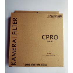 Camdiox 95mm CPRO  super slim CPL filter