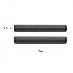 2Pcs Dia 15mm Carbon Fiber Tube Rod 10cm