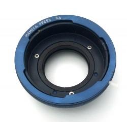 Adaptador (RA) de objetivos Mamiya Press MF para cámaras Fuji montura GFX