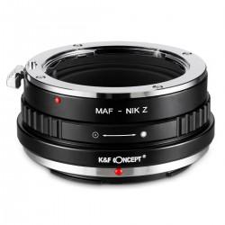 Adaptador K&F Concept de  objetivos Sony-A(Reflex) /Minolta-AF para  Nikon-Z