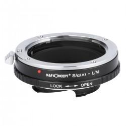 Adaptador K&F Concept de  objetivos Sony-A(Reflex) /Minolta-AF para  Leica M