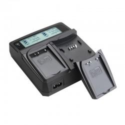 Akku-Ladegerät mit 2 Ladeschächten für Panasonic BLF19, Sigma BL-61