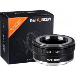 Adaptador Version II de K&F Concept de objetivos M42 para Sony montura-E