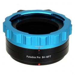 "Adaptador Fotodiox Pro de ópticas 4/3"" (B4) a micro-4/3"