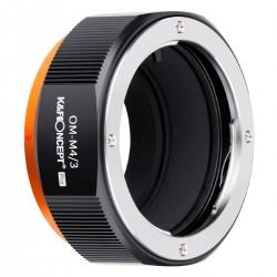 K&F Concept Adapterring für Olympus OM Objektiv auf micro-4/3 PRO Kamera