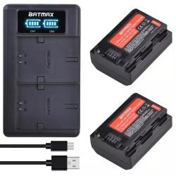 Kit  BATMAX cargador USB + 2 bateria NP-FZ100  para Sony