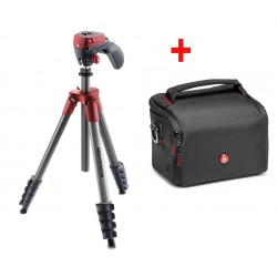 Manfrotto Compact Action (Red) Tripod