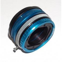 Adaptador (RA) de objetivos Koni Omega hexanon  para cámaras Fuji montura GFX con obturador