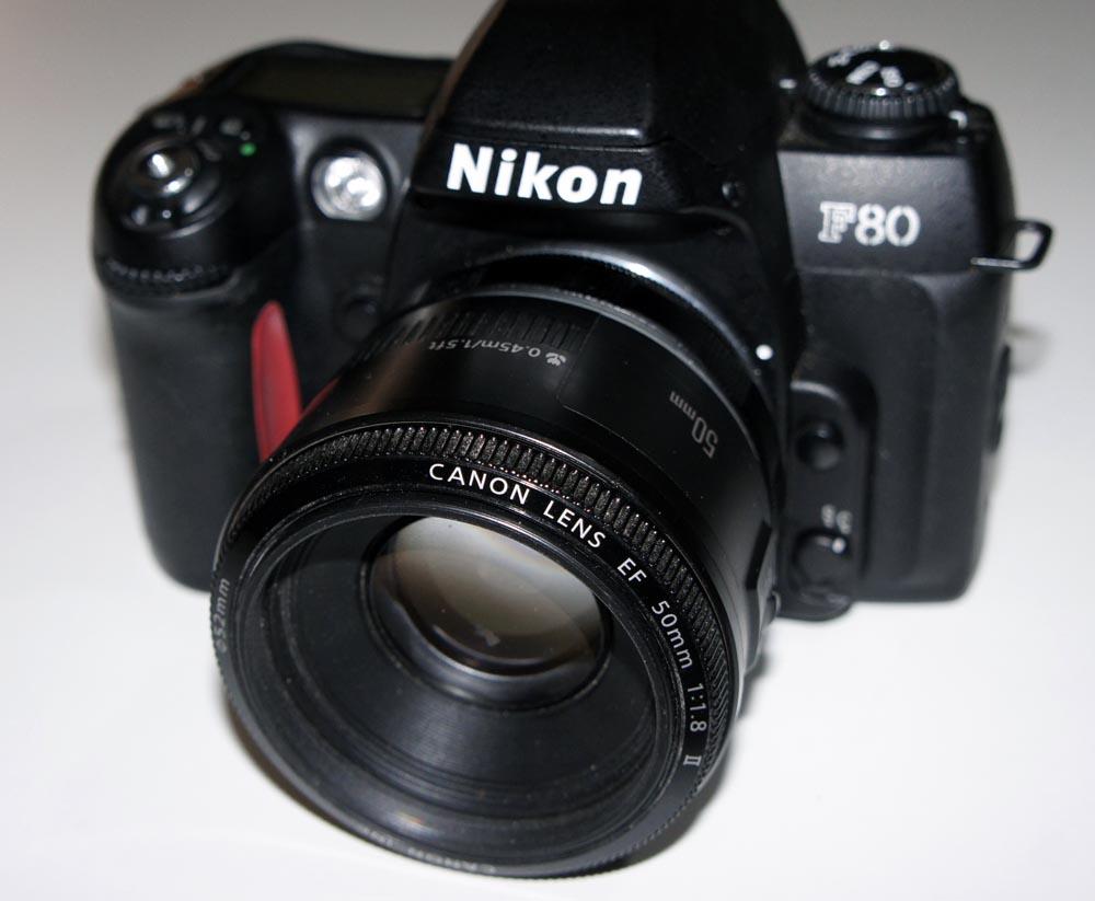 Adaptador EOS a Nikon